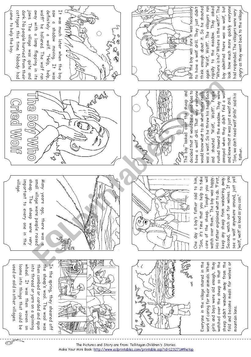 The Boy Who Cried Wolf [mini-book]